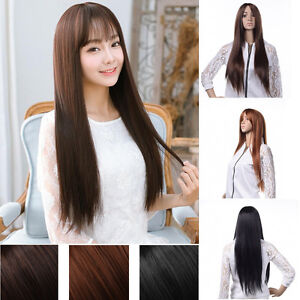 Women-Girls-Parted-Bang-Long-Straight-Wig-Animation-Cosplay-Party-Hair-Full-Wigs