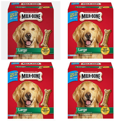 Large Milk Bone Original Dog Biscuits Chew Clean Teeth 4 Pack - Over 400 Treats