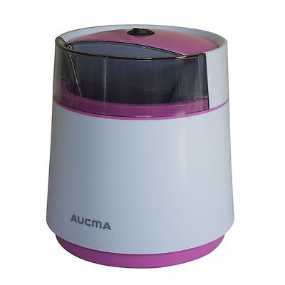 Aucma Automatic Frozen Yogurt Ice Cream Maker Machine Sorbet Maker 0 8L Pink