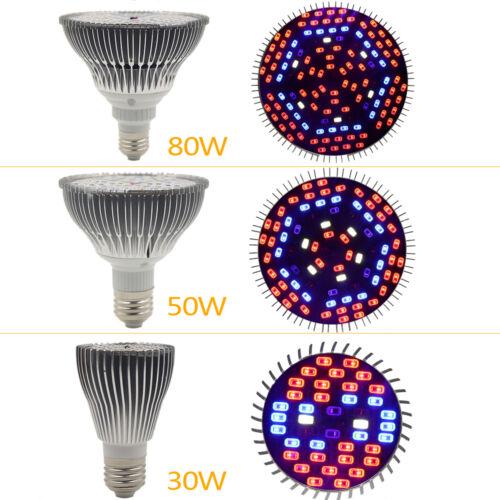 Full Spectrum Led Grow Light Bulb Lamp Uv Ir 30w E27 For Indoor Plant Vegetable Ebay