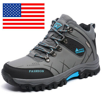 US Mens Trail Hiking Boots Dynamic Waterproof Antiskid Winter Trek Outdoor Shoes