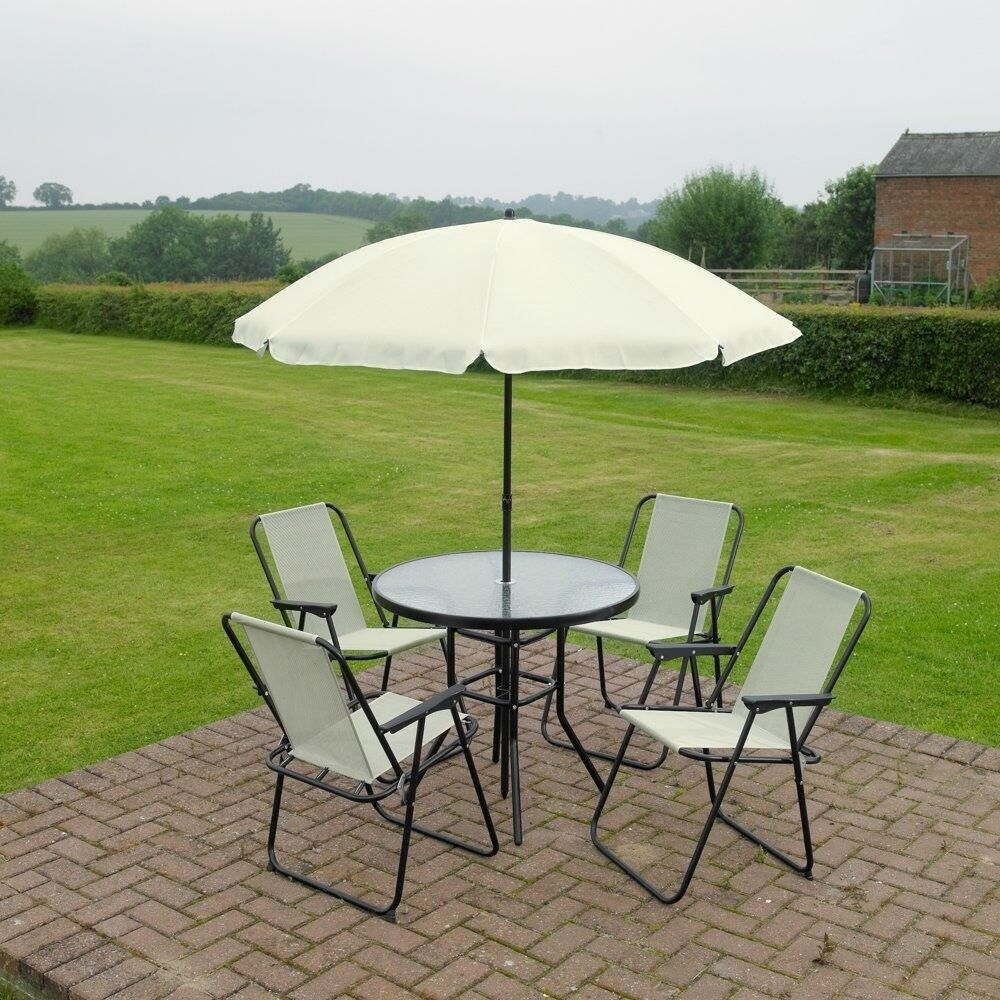 Garden Furniture Patio Set 4 Seater With Parasol NEW