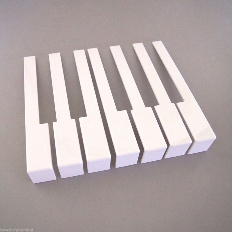 German Piano Keytops - Full set of Piano Keytops with Fronts for Replacement