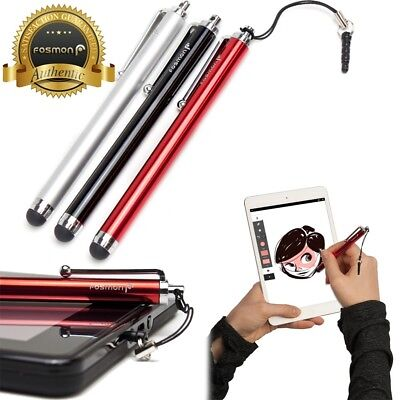 6x Stylus Pen RED BLACK SILVER 3.5mm Adapter for iPad iPhone Samsung Tablet Tab
