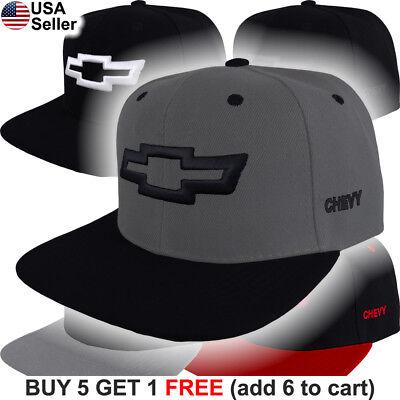 Chevy Truck Hats (Chevy Cap Bowtie Logo Snap Back Truck Racing Camaro Silverado Impala Hat Emblem )