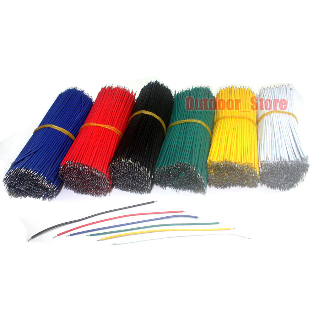 200pcs 26AWG UL1007 Double Head Tinned Copper Electronic wire (5 Color) lot