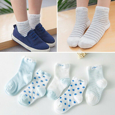 100% Cotton 5 Pairs Kid's Toddler Baby Lovely Short Socks Fo