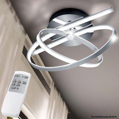 LED 30 W Decken Lampe dimmbar silber Kreis Küchen Leuchte 3000-4500-6500 Kelvin