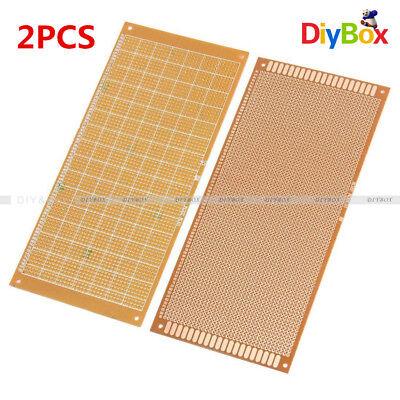2pcs 10x22cm Soldering Prototype Copper Pcb Board Single Side Universal 2.54mm