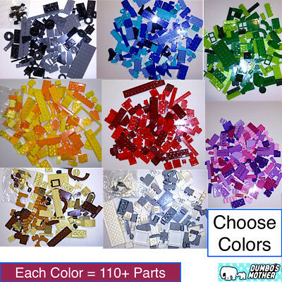100% Lego Assorted Bricks Plates Slopes and more 110+ Parts for each Color NEW