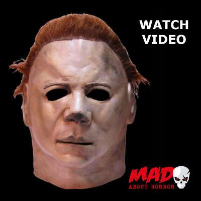 Tots Halloween 2 Maske (Michael Myers Latex Collectors Mask - Mens Halloween 2 Horror Film Movie H2 TOTS)