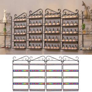 5 Tier Wall Mounted Nail Polish Display Racks Stand Holder Acrylic Varnish Shelf