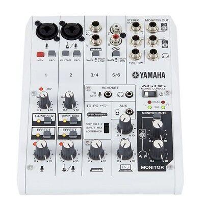 YAMAHA AG06 mixer usb 6 canali interfaccia audio x broadcasting podcasting live usato  Italia