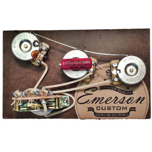 Emerson Custom Prewired Kit S5B 5 way Blender Pot 500k fits to Strat ®