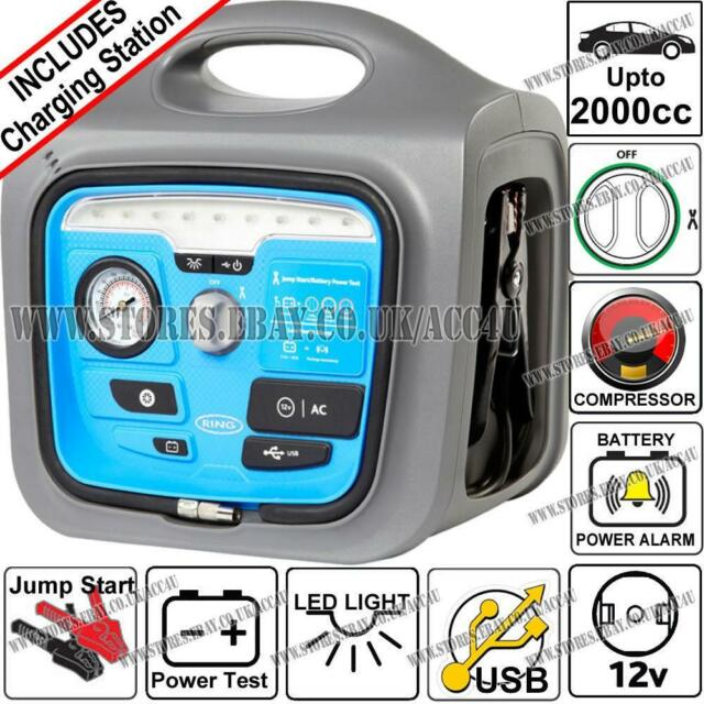 RING AUTOMOTIVE RPP165 Powerpack with USB, Compressor and Charge Station, 17 Ah,