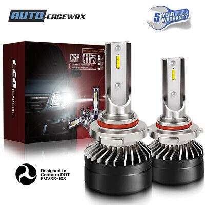 9012 HIR2 LED Headlight Bulb 60W 12000LM Kit High Low Beam Upgrade 6000K