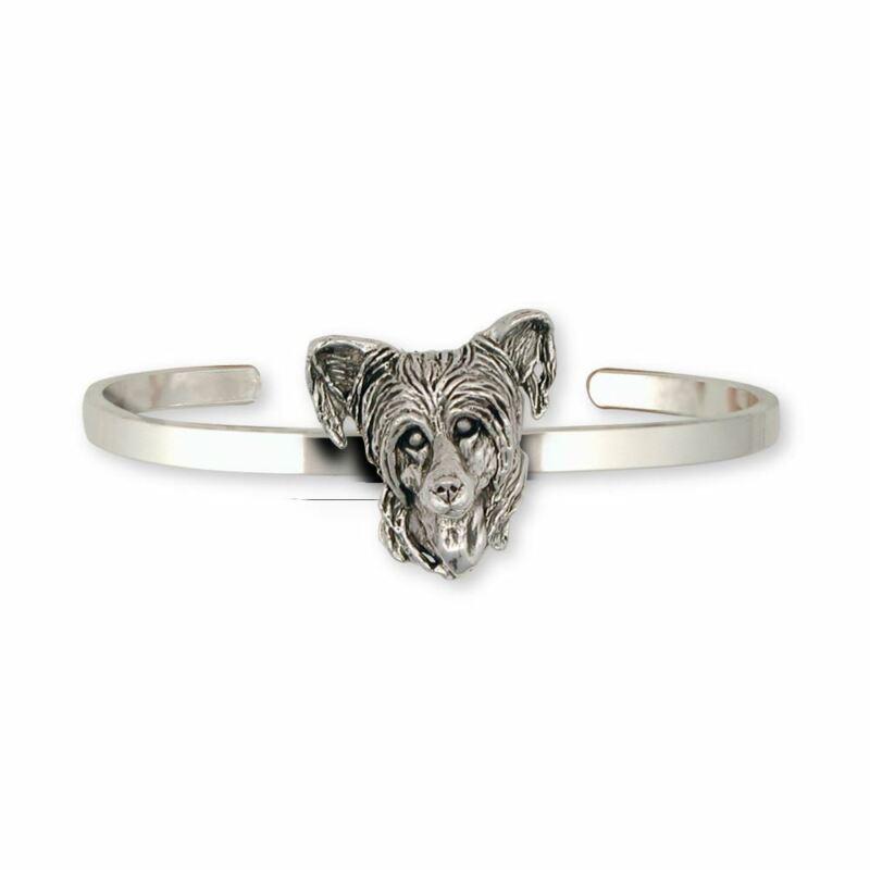 Chinese Crested Bracelet Jewelry Sterling Silver Handmade Dog Bracelet CC3-CB