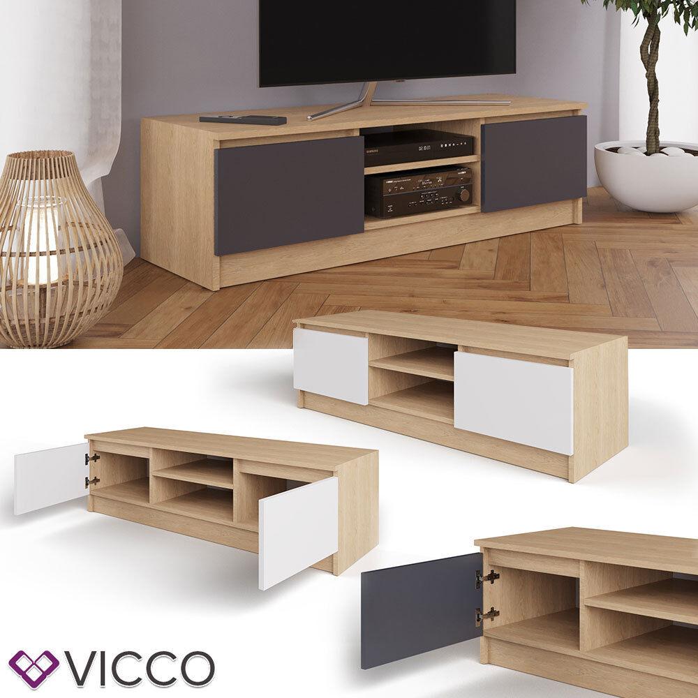 VICCO Lowboard NEVIA Sonoma Eiche Fernsehschrank Sideboard TV Fernsehtisch