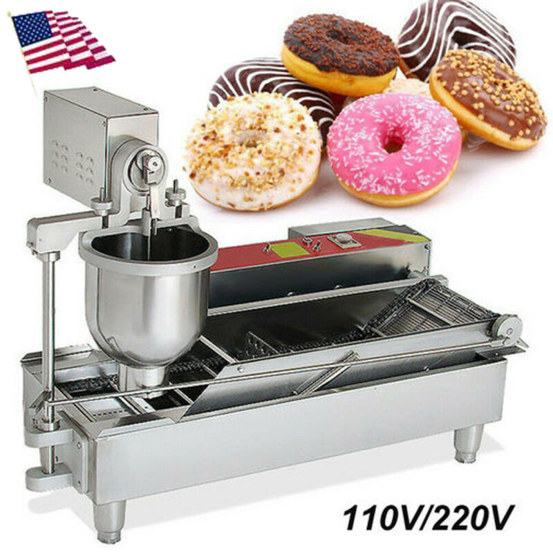 【USA】Commercial Electric Automatic Doughnut Donut Machine Donuts Maker Warranty