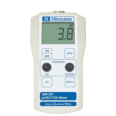 Milwaukee Instruments Phectds Portable Meter Micro Processor Tester Mw801