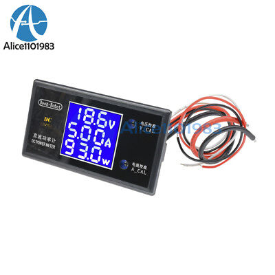 Digital Dc 50v 5a 250w Lcd Voltmeter Ammeter Voltage Current Volt Power Meter