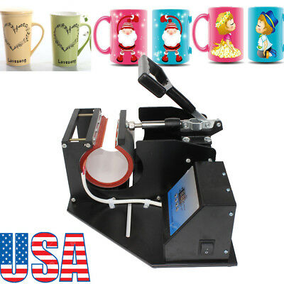Dual Digital Heat Press Transfer Sublimation Machine Diy Cup Mug Special Gift