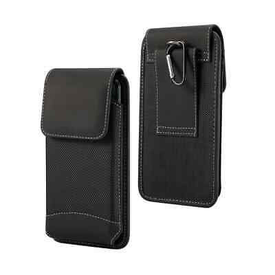 Belt Case for LG K71 (2020) Cover Vertical Leather & Nylon