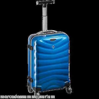 "Mercedes Benz Original Suitcase Samsonite "" Curv "" Blue 27 3/16x18 1/2x11 3/8in"