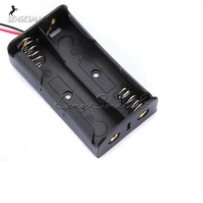 10x Plastic 2x Aa Battery Storage Case Box Clip Holder For 2xaa 3v W Wire Leads
