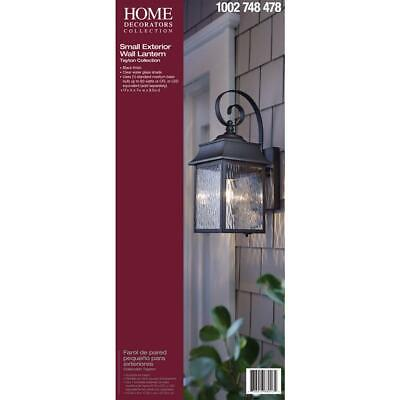 Home Decorators Collection Scroll 1-Light Black Outdoor Small Wall Mount (Black Small Outdoor Wall Lantern)