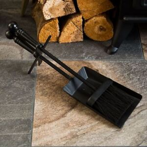 Hearth Fire Shovel And Brush Set Fireside Fireplace Tidy Tools By Home