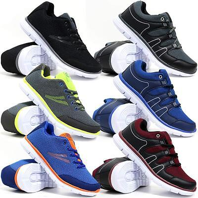 (Mens Running Trainers Boys Gym Walking Shock Absorbing Sports Fitness Shoes Size)