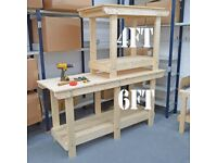 Workbench Wooden   STRONG & STURDY   Various Sizes Available   Quality Workmanship