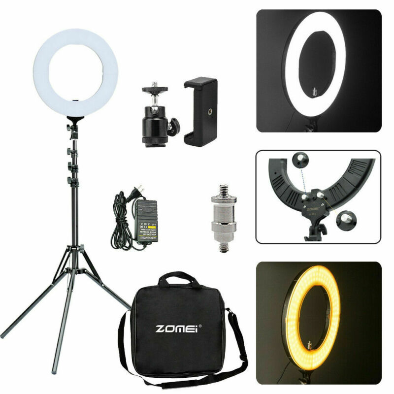 "Zomei 18"" Selfie LED Ring Light Studio Photography Lamp Tripod Camera Phone Live"