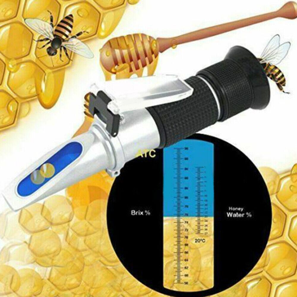Refraktometer Honig Imker Wasser Zucker Gehalt Brix Prüfvorrichtung Tragbares DE