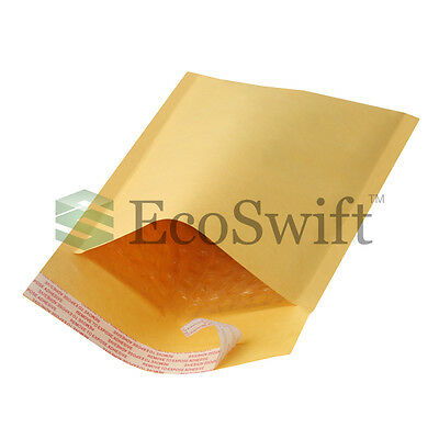 "500 #000 4x8 KRAFT BUBBLE MAILERS PADDED ENVELOPE 4""x8"""