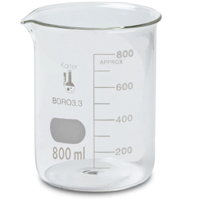 800ml Beaker, Griffin Low Form, Boro. 3.3 Glass, Graduated (Case 36)