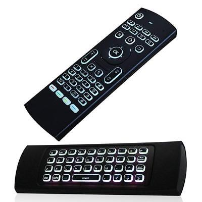 Wireless Keyboard Remote Fly Air Mouse with Back light Android TVs Boxes Laptops