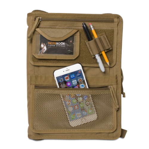 Tactical Admin Notebook Cover System WITH Map Case Coyote