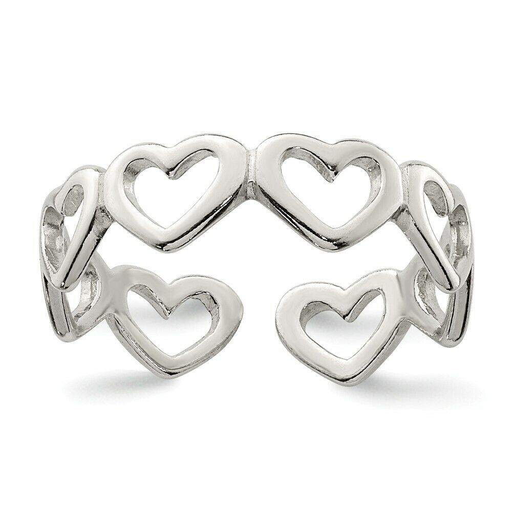 Heart .925 Sterling Silver Toe Ring
