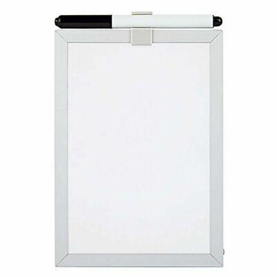 Aluminum Frame 5x7 Magnetic Dry Erase Board Marker Lockerfridgegarage White