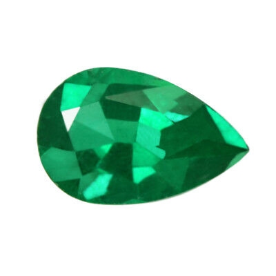 Certified 1.00 ct Zambia Natural Emerald Pear ~ 9 x 5.6 Loose Gemstone 288_VIDEO
