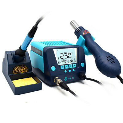 2in1 Smd Soldering Iron Rework Station Hotair Gun Lcd Digital Display 560w110v