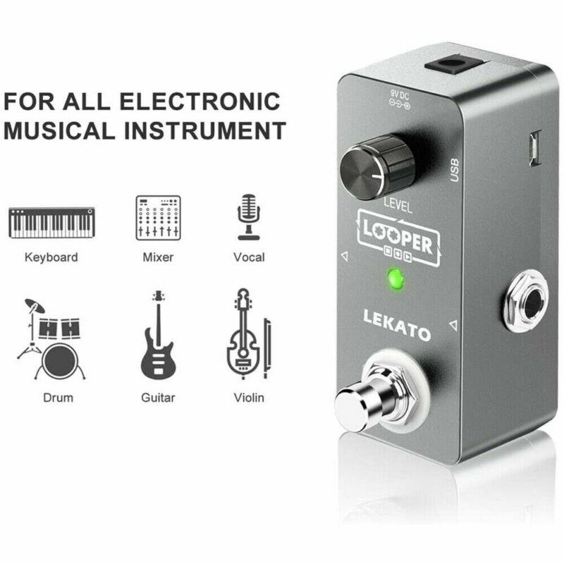 LEKATO Electric Guitar Looper Effect Pedal Loop Unlimited Overdubs 300s USB MTP