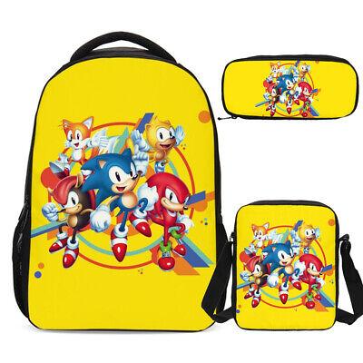 Sonic the Hedgehog Kids Large School Backpack Shoulder Bag Pencil Case Wholesale - Hedgehog Kids