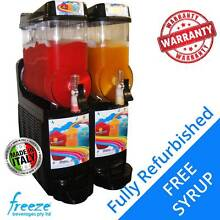 USED 2 Bowl ITALIAN Commercial Slush Machine withFREE Slush Syrup Richlands Brisbane South West Preview