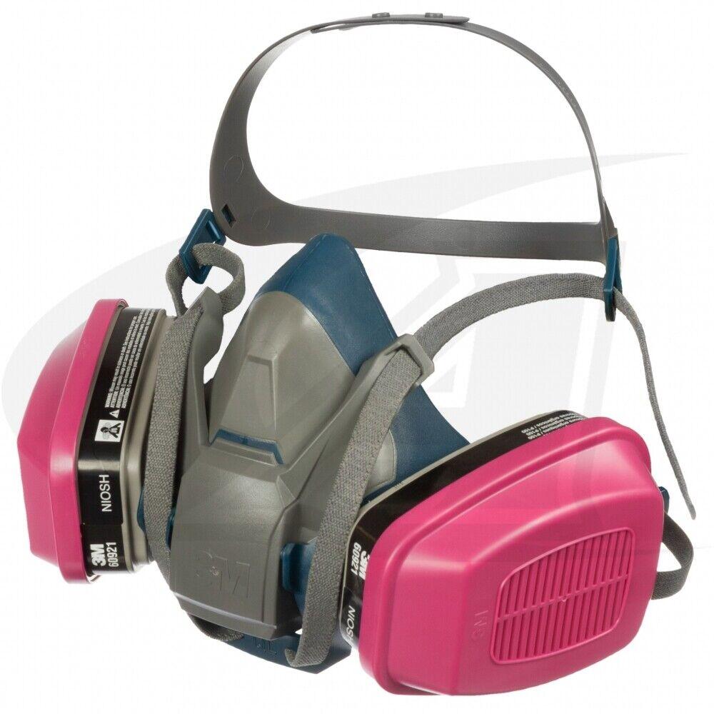 3M 6502QL & 2 EA 60921 OV/P1OO Cartridge, Multi-Purpose Respirator MEDIUM Business & Industrial