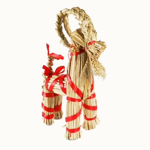 """Scandinavian Straw Goat Julbok 12"""", NEW"""
