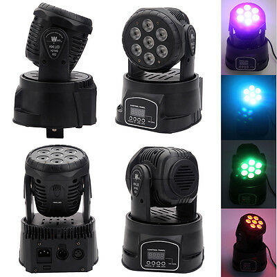 New 7 LED RGB DJ Club Disco Party DMX512 Moving Head Light Stage Effect Lighting