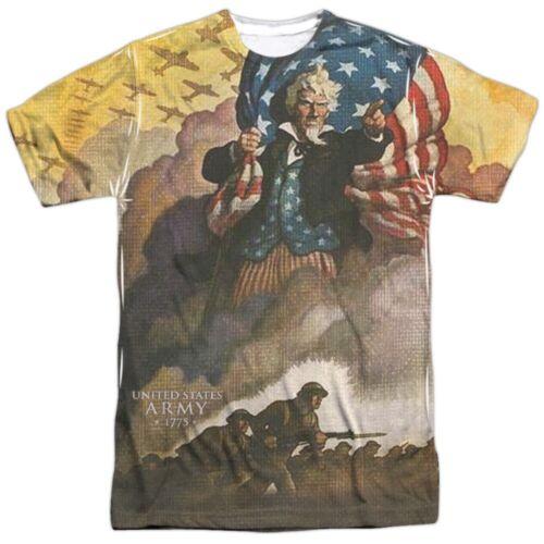 Authentic US Army 1775 Uncle Sam Vintage Poster Front T-shirt S M L X 2X 3X top
